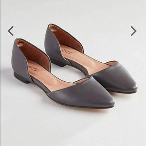 J. Jill | Black Slip On D`Orsay Flats